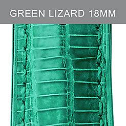 18mm Garden Green Lizard Strap