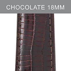 18mm Chocolate Lizard Strap