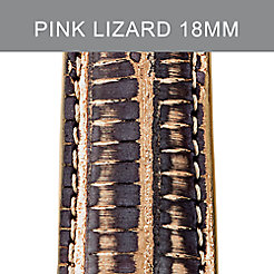 18mm Grey Rose Multi Lizard Strap