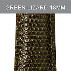 18mm Deep Olive Lizard Strap
