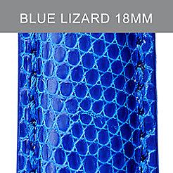 18mm Cobalt Lizard Strap