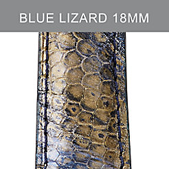 18mm Twilight Blue Lizard Strap