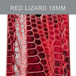 18mm Red And Black Lizard Strap