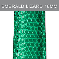 18mm Emerald Lizard Strap