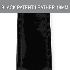 18mm Black Patent Leather Strap