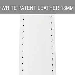 18mm White Patent Leather Strap