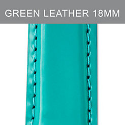 18mm Teal Green Patent Leather Strap