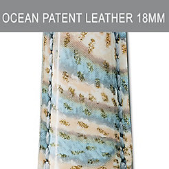 18mm Ocean Wave Patent Leather Strap