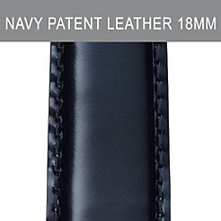 18mm Navy Patent Leather Strap