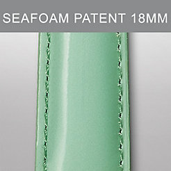 18mm Seafoam Patent Leather Strap