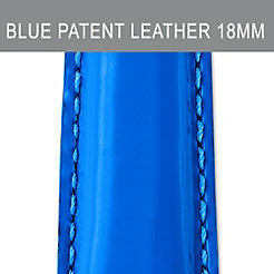 18mm Pacific Blue Patent Leather Strap