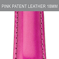 18 mm Pink Patent Leather Strap