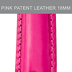 18mm Bright Pink Patent Leather Strap