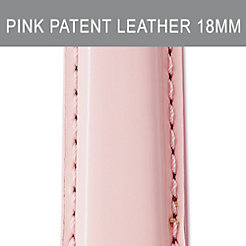 18mm Pearl Pink Patent Leather Strap