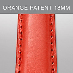 18mm Bright Orange Patent Leather Strap