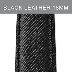 18 mm Jet Black Leather Strap
