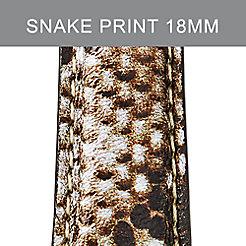 18mm Snake Print Leather Strap