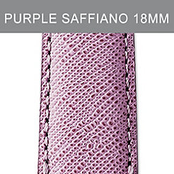 18mm Pastel Purple Saffiano Strap
