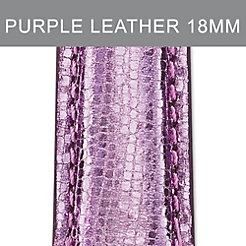 18mm Light Purple Leather Strap