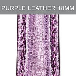 18mm Light Purple Leather Strap