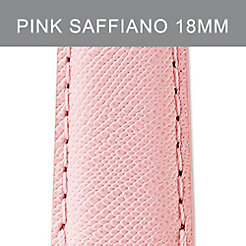 18mm Powder Pink Saffiano Strap