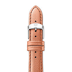 18mm Rose Gold Saffiano Strap