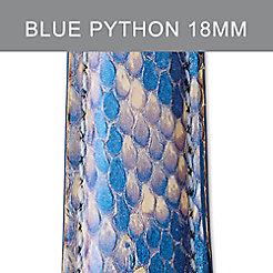 18mm Shimmer Blue Python Strap