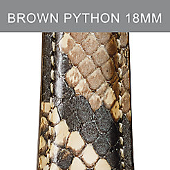 18mm Brown Python Strap