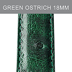 18mm Forest Green Ostrich Strap