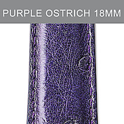 18mm Dark Purple Ostrich Strap