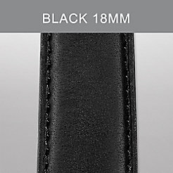 18mm Black Calf Skin Strap