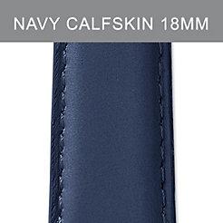 18mm Navy Calfskin Strap
