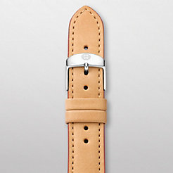 18 mm Tan Leather Red Trim Strap