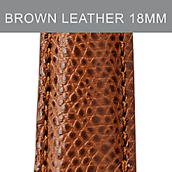 18mm Chestnut Leather Strap