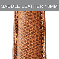 18mm Saddle Calfskin Leather Strap