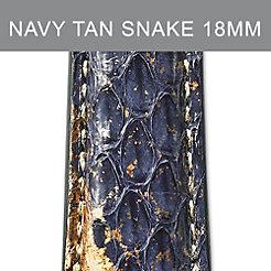 18mm Navy Tan Strap