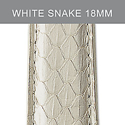 18mm Whisper White Snake Strap