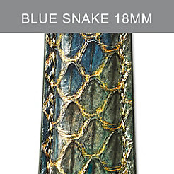 18mm Peacock Blue Strap