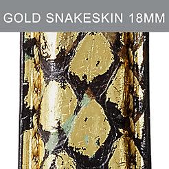 18mm Black And Gold Snakeskin Strap