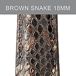 18mm Brown Multi Snakeskin Strap