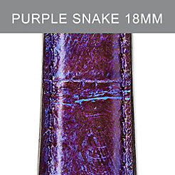 18mm Purple Snakeskin Strap