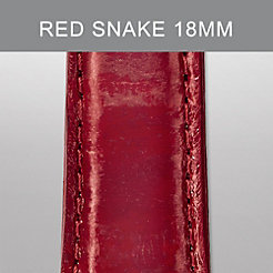 18mm Red Snakeskin Strap