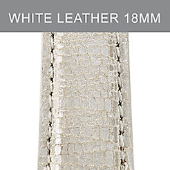 18mm Metallic Pearl Textured Leather Strap