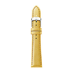 18mm Metallic Gold Leather Strap
