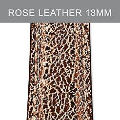 18mm Pale Rose Metallic Strap