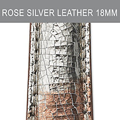 18mm Rose Silver Strap