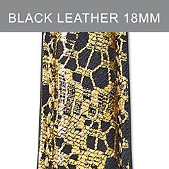18mm Black Lace Fashion Leather Strap