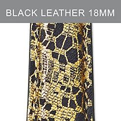 18mm Black Lace Fashion Leather Strap