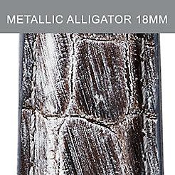 18mm Weathered Metallic Alligator Strap
