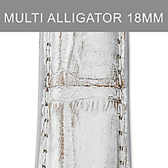 18mm Metallic Multi Fashion Alligator Strap